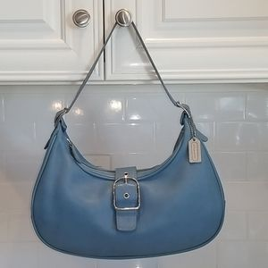 Coach Baby Blue Leather Large Hampton Hobo